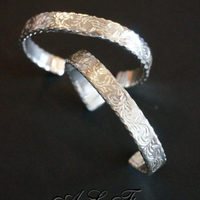 A,L,F silver バングル