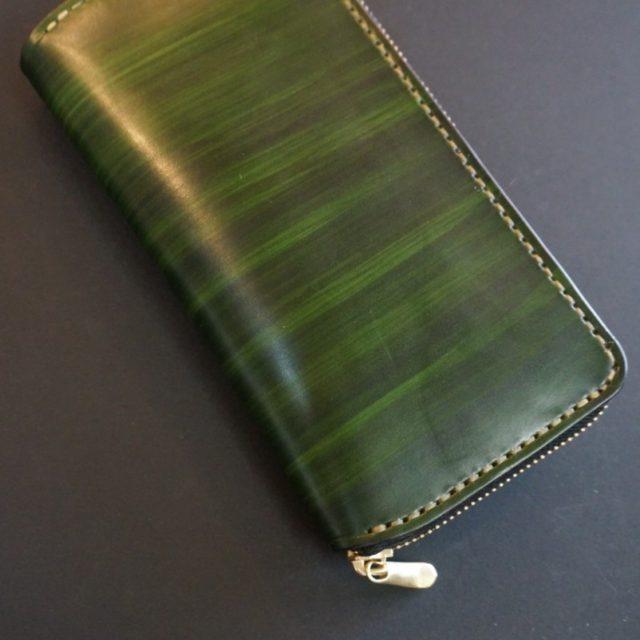 wood green ラウンドファスナーロング