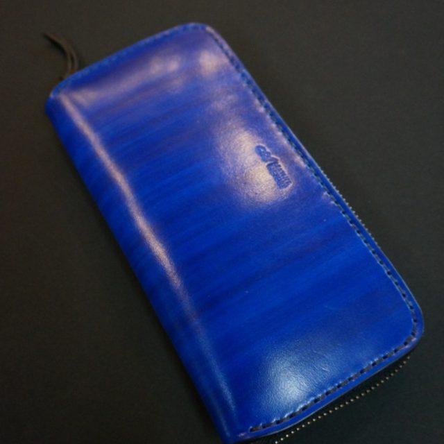 wood blue ラウンドファスナーロング
