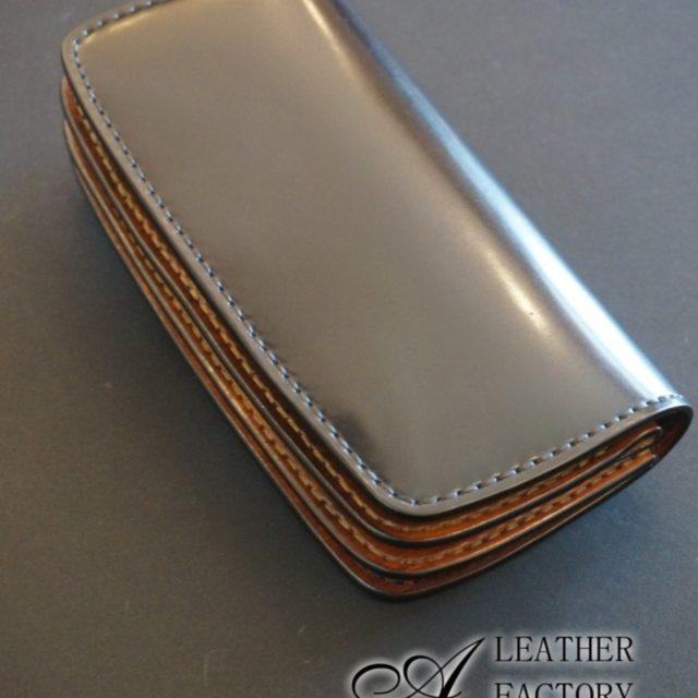 コードバン×wood brown R long wallet image