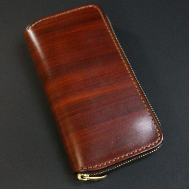 light wood brown ラウンドファスナーカード12枚タイプ
