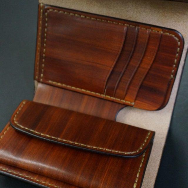 wood brown フラップ ミドルウォレット image