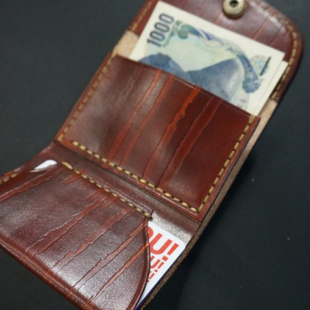 real wood leather スリムコンパクトウォレット image