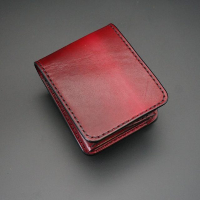 ray wood red short wallet