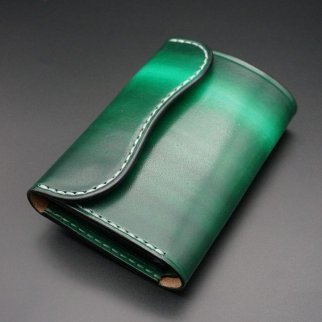 ray wood green flap middle wallet image