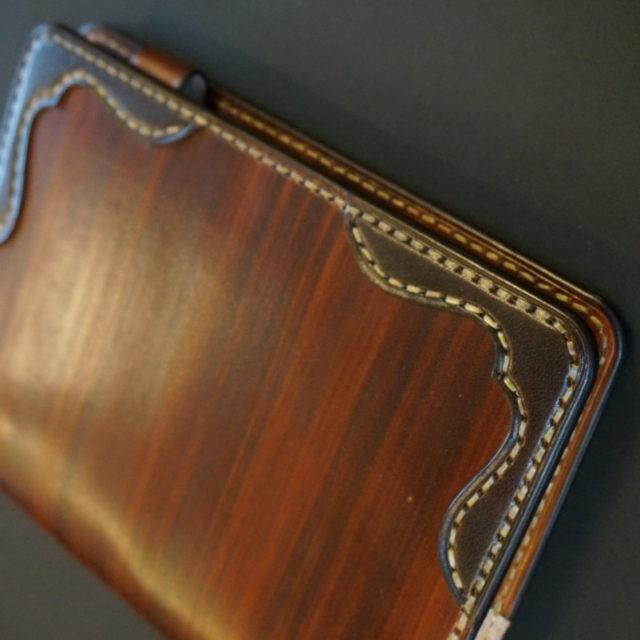 手帳カバー wood brown W eagle image