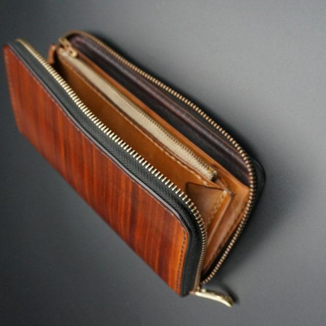 wood brown ラウンドファスナーロング image