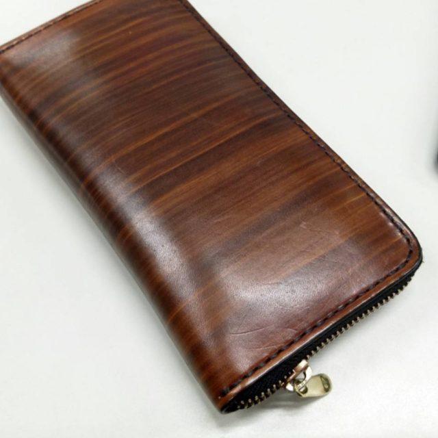 wood brown ラウンドファスナーロング 経年変化 image