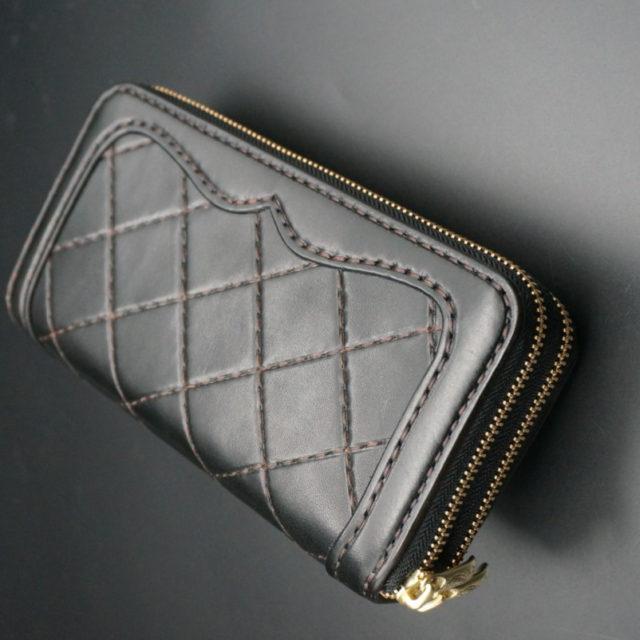 Wファスナー オーバーレイ ダイヤモンドステッチ image