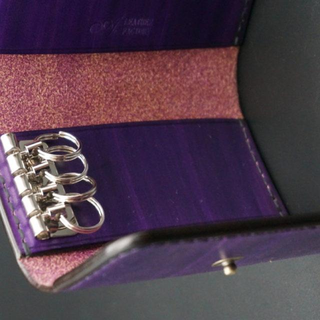 wood purple キーケース image