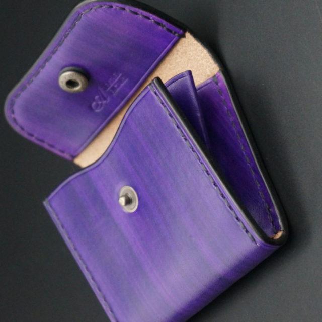 wood purple コインケース image