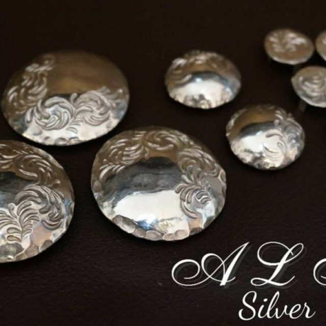 A,L,F silver コンチョ image