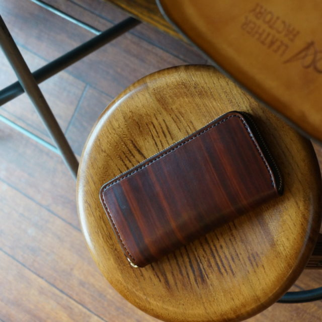 wood brown ラウンドファスナーロング カード12枚 image